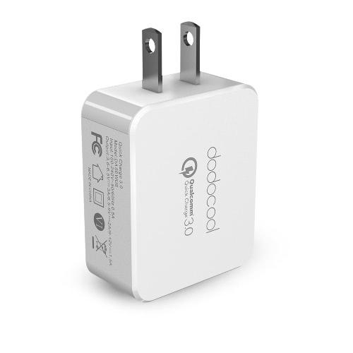 dodocool [Qualcomm rápida carga 3.0] carregador de parede USB 3.0 de carga rápida 18W para LG G5 / A9 um HTC Sony Xperia Z4 Tablet / / Xiaomi Mi 5 / LeTV Le Pro MAX nos Plug