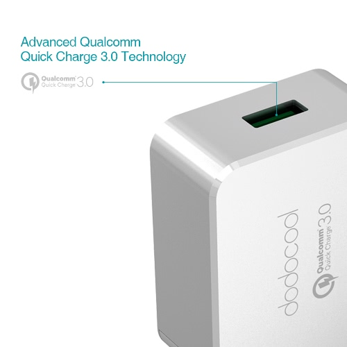 [Qualcomm Quick Charge 3.0] dodocool Quick Charge 3.0 18W USB Wall Charger for LG G5 / HTC One A9 / Sony Xperia Z4 Tablet / Xiaomi Mi 5 / LeTV Le MAX