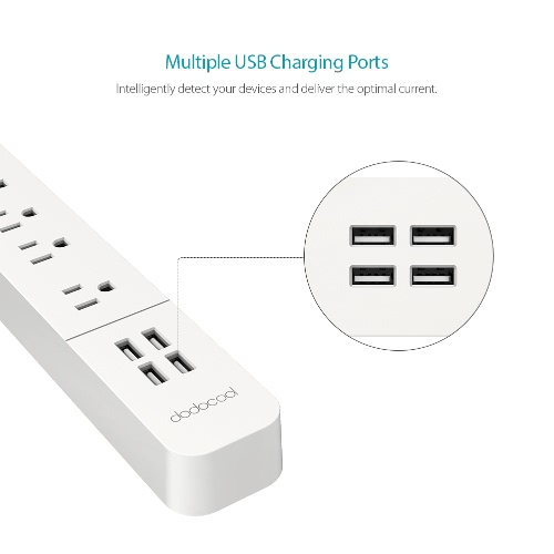 surge protector power strip with 4