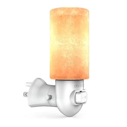 Dodocool naturalna kryształowa sól solna Himalayanowa lampa solna żółta lampka nocna uwolnienie jonów ujemnych oczyszczanie powietrza z E12 10W żarówka włącznik / wyłącznik i 270 ° obrotowa nasza wtyczka do gniazdka białego AC120V
