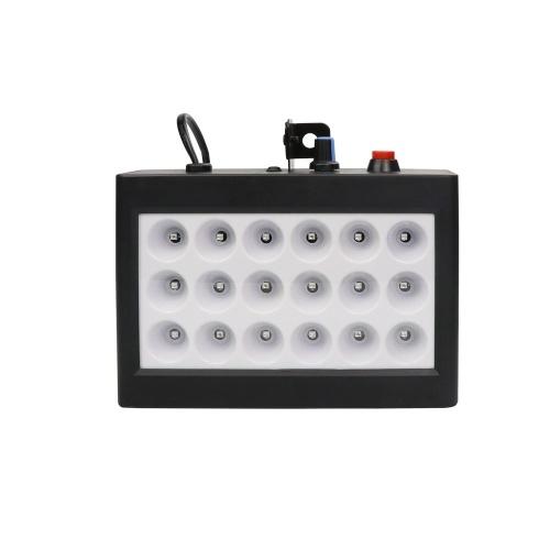 18 LEDs 9 Colors Room Strobe Light Box Disco Light Sound Auto Control Stage Family Party Light Black