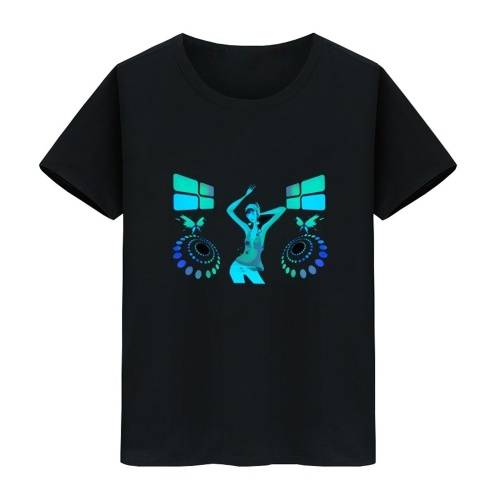 Camiseta LED Flash activado por voz