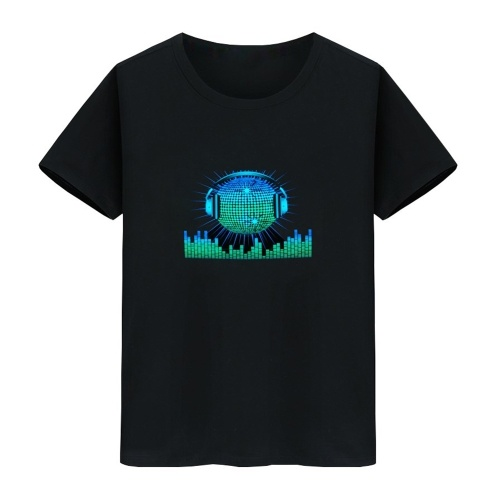 LED T-Shirt Sprachaktivierter Blitz