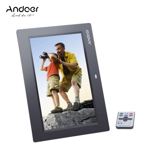 """Andoer 10 """"HD TFT-LCD 1024 * 600 Cadres photo numériques Album Horloge MP3 MP4 Movie Player avec télécommande"""