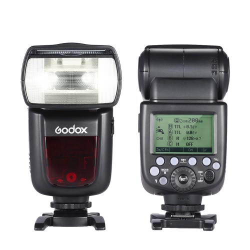 Godox V860II-C E-TTL 1/8000S HSS Master Slave GN60 Speedlite Flash Built-in 2.4G Wireless X System with 2000mAh Rechargeable Li-ion Battery for Canon 1DX/5D Mark III/5D Mark II/6D/7D/60D/50D/40D/30D/650D/600D