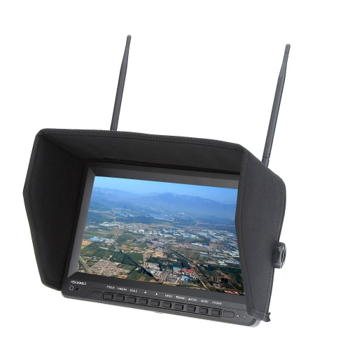 Feelworld FPV1032 FPV 10.1'' HD TFT LCD Monitor 1024 * 600 HD Dual Receiver Antenna for FPV Photography Aerial Photography