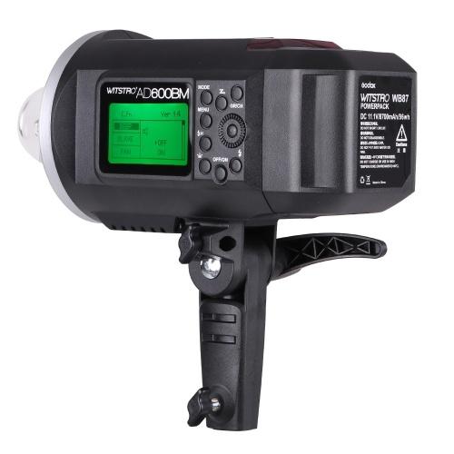GODOX WITSTRO AD600BM 600WS GN87 HSS 1/8000s Strobe Flash exterior 2,4 G inalámbrico X sistema con 8700mAh Li-ion batería
