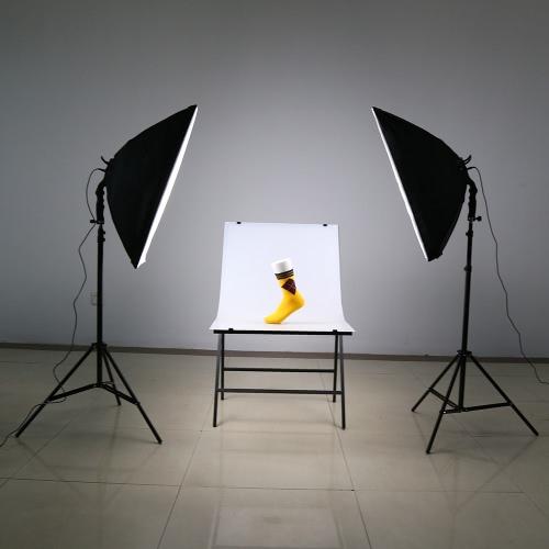 Andoer Led Photography Studio Lighting Light Kit With 2 30w Lamp Softbox Stand 1 Carrying Bag