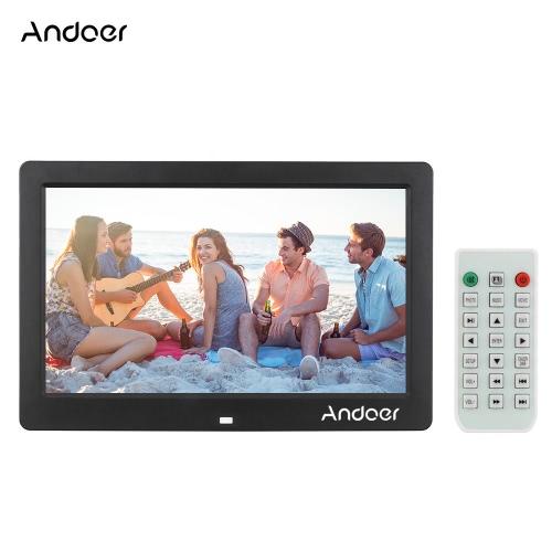 """Andoer 10,1 """"LCD Cyfrowa ramka do zdjęć Ramka do zdjęć Ramka do zdjęć MP3 MP4 1024 * 600 HD z pilotem"""