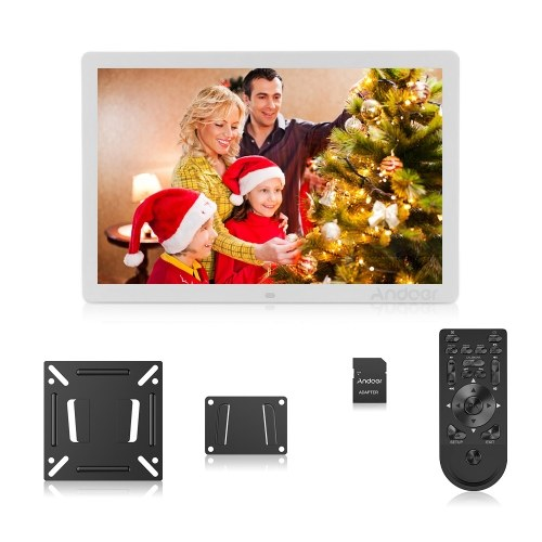 Black Digital Photo Frame 17inch HD Digital Screen Advertising Exhibition Displayer Support Picture Photos Music Video Player