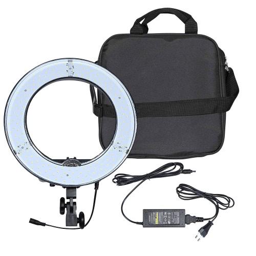 RL-12 180pcs Ring LED Panel Beads Lamp Lights CRI 83+ Color Temperature 5500K Studio Outdoor Video Camera   Photography Lighting Kit