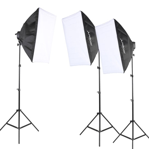 Andoer Photography Studio Kit de tente d'éclairage Photo Équipement