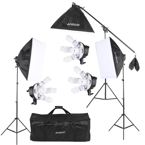 Kit d'éclairage Andoer Studio Photo Video Softbox