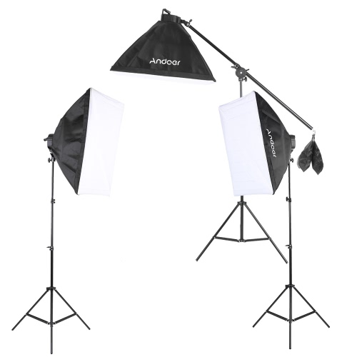 Andoer Studio Foto Video Softbox Beleuchtung Kit Fotoausrüstung