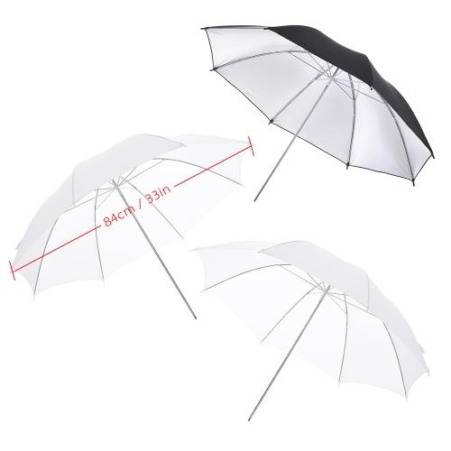 Godox M180-A Mini 3 * 180WS Studio Photo Flash Strobe Lighting Kit with (3) Flash / (3)Light Stand / (2) Soft Umbrella / (1)Relector Umbrella/ (1)RT-16 Flash Trigger / (1)Carrying Bag