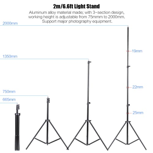 Andoer Photography Kit 2 * 3m Backdrop Stand 1.8 * 2.7m Green Muslin Backdrop 2Pcs 135W 5500K White Daylight Light Bulbs with 2 Swivel sockets 2Pcs 33