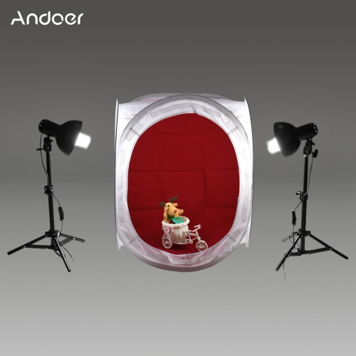 Andoer 60x60x60cm Photography Studio Cube Tent Kit