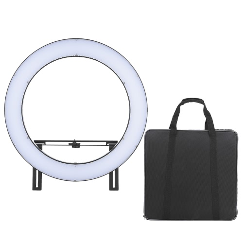 FalconEyes DVR-512DVC Video Camera Photography Studio Outdoor LED Ring Light Fill-in Lamp CRI90+ 3200K-5600K Adjustable Color Temperature