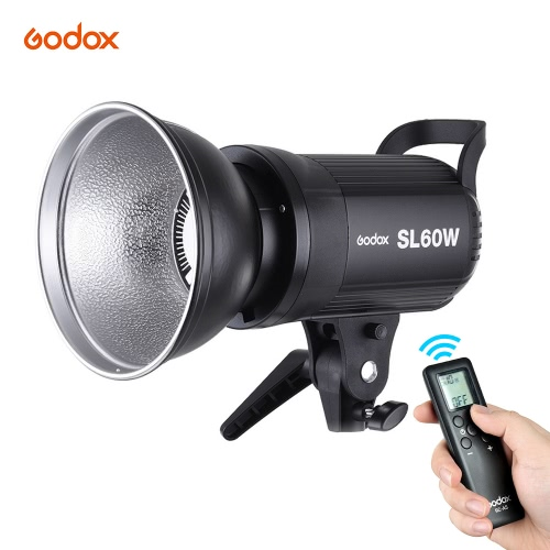 Godox SL-60W 5600K 60W High Power LED Video Light Wireless Remote Control with Bowens Mount for Photo Studio Photography Video Recording White Version