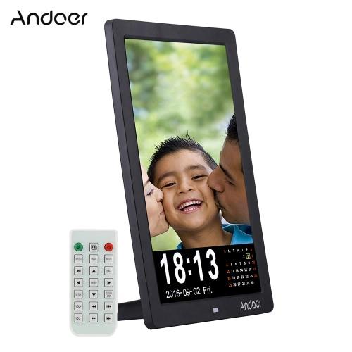 """Andoer 12 """"ramka do zdjęć cyfrowych LED HD 1280 * 800 Wsparcie dla tabletu MP3 / MP4 / E-book / kalendarz / funkcja budzika z funkcją Remote Control Christmas Gift"""