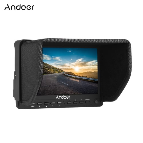 Andoer AD-702 7-calowy ultra-cienkie HD 1280 x 800 Ekran IPS Camera Pole monitora 400cd / ㎡ High Definition Multimedia Interface Wejście AV i wyjście do kamery DSLR Camera