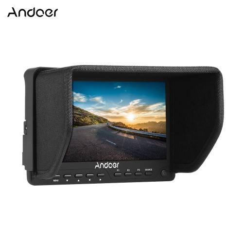 Andoer AD-702 7 pouces ultra-mince HD 1280 × 800 IPS écran Caméra moniteur de contrôle 400cd / ㎡ pour High Definition Multimedia Interface AV Input et Output pour Caméscope DSLR
