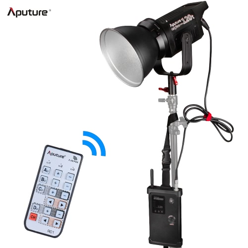 Aputure Light Storm COB 120t CRI97+ 3000K 135W LED Video Light Portable Continuous Studio Photography Location Light with Bowens Mount and V-Mount Plate