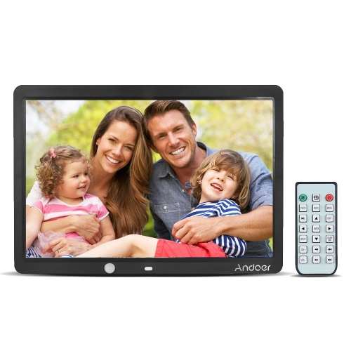 Andoer 15 pulgadas de pantalla grande LED Digital Photo Album