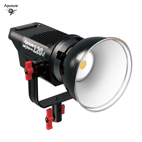Aputure LS COB 120d professionelle bewegliche LED-Videoleuchte 6000K Studio Dauerlicht TLCI / CRI 96+ intelligente Temperaturregelung 18dB Lärm Ultra Stille Bowens Berg