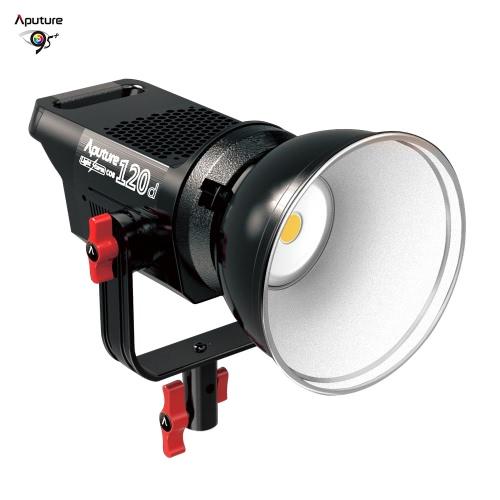 Aputure LS COB 120d Profesjonalne Portable LED Lampa wideo 6000K Studio Ciągłe Oświetlenie TLCI / CRI 96+ Inteligentna kontrola temperatury 18dB hałasu Ultra Silence Bowens Góra