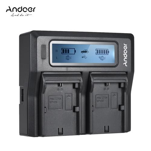 Andoer LP-E6 LP-E6N Cyfrowa ładowarka sieciowa z ładowarką cyfrową z wyświetlaczem LCD dla Canon EOS 5DII 5DIII 5DS 5DSR 6D 7DII 60D 80D 70D