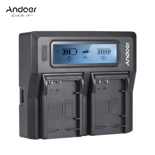 Andoer LP-E17 Cyfrowy aparat fotograficzny z ładowarką cyfrową z wyświetlaczem LCD dla Canon 750D 760D Rebel T6i T6s EOS M3 / M5 / M6 / 800D / 77D