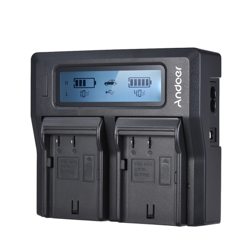Andoer DMW-BLF19E Dual Channel LCD Camera Battery Charger