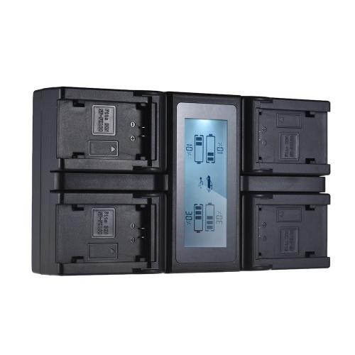 Andoer NP-FZ100 Chargeur de batterie pour appareil photo numérique LCD 4 canaux pour Sony A7III A9 A7RIII A7SIII