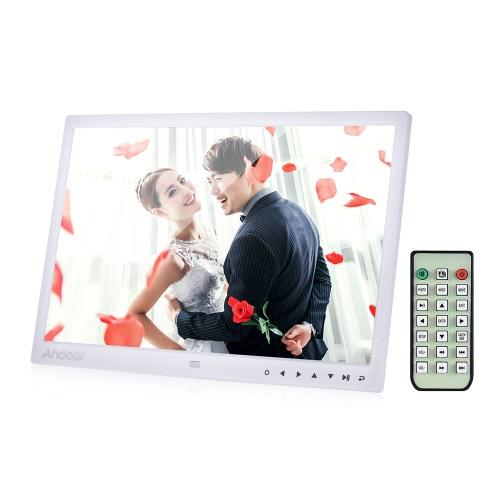 """Andoer 13 """"LED Cyfrowa ramka na zdjęcia Ramka na zdjęcia pulpitu Wyświetl obraz 1080P MP4 Video MP3 Audio TXT Kalendarz zegara eBook 1280 * 800 HD z pilotem na podczerwień / 7 klawiszy dotykowych Automatyczne odtwarzanie / 14 języków / podstawek"""