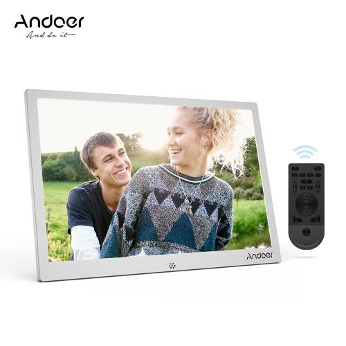 Andoer 12inch Aluminum Alloy LED Digital Photo Frame