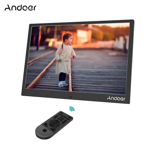 Andoer 13インチアルミ合金LEDデジタルフォトフレーム