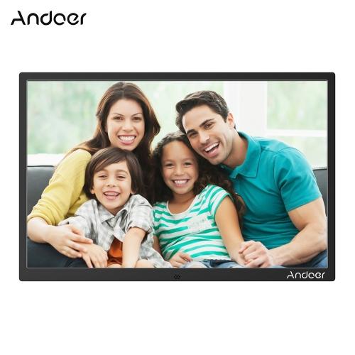 Andoer 15.4inch alliage d'aluminium LED cadre photo numérique