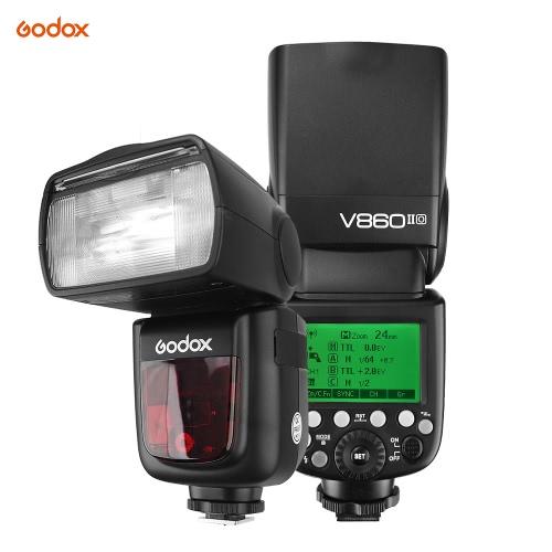 Godox VG-V860IIO Pioneer TTL cámara de ion-litio Flash Master y esclavos Flash Speedlite 2.4G sistema inalámbrico X 1 / 8000s HSS GN60 con 2000mAh Li-ion de la batería para Olympus E-M10II E-M5II E-M1 E-PL8 / 7/6 / 5 E-P5 E-P3 PEN-F para Panasonic DMC-GX85 Cámaras G7 GF1 LX100 G85 GH4 FZ2500GK