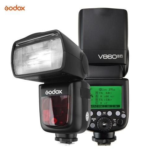 Godox VING V860IIF Pionier TTL Li-Ion Kamera Blitz 2.4G Wireless X System 1 / 8000s HSS GN60 Master & Slave Blitz mit 2000mAh Li-Ionen Akku für Fuji X-T2 X-T1 X-T1 X-T1 X-T1 X-T1 X-T1 X-E2 X-A3 X100F X100T Serie Kameras