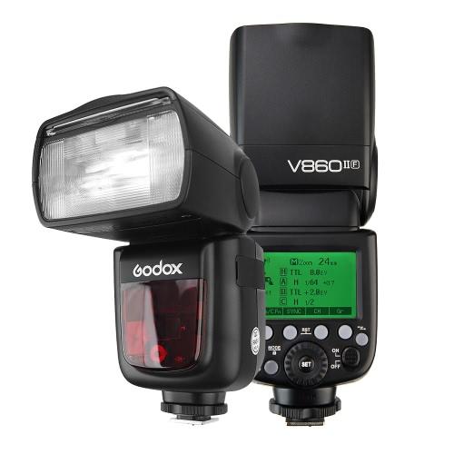 Godox VING V860IIF Pionier TTL Li-Ion Kamerablitz 2.4G Wireless X System 1 / 8000s HSS GN60 Master & Slave Blitz mit 2000mAh Li-Ionen Akku für Fuji X-T2 X-T1 X-T1 X-T1 X-T1 X-T1 X-T1 X-E2 X-A3 X100F X100T Serie Kameras