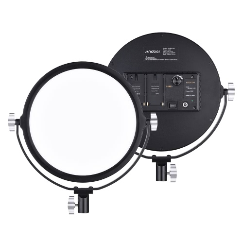 Andoer OLED-260 5600K temperatura de color Dimmable LED de luz de vídeo
