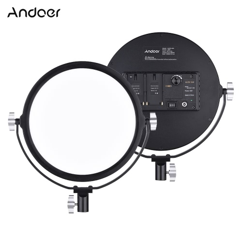 Andoer OLED-260 Dimmable LED de luz de vídeo