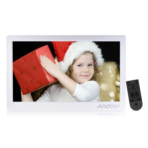 Andoer 15.6 cala cyfrowa ramka na zdjęcia 1920 * 1080 HD Maszyna reklamowa Pełny widok Ekran IPS obsługuje losowe odtwarzanie ze zdalnym prezentem świątecznym