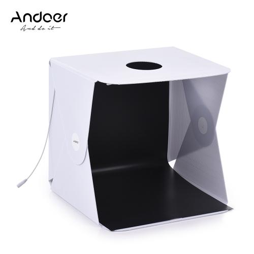 Andoer 40 x 40cm Mini portátil plegable caja de luz LED Enchufe de la UE