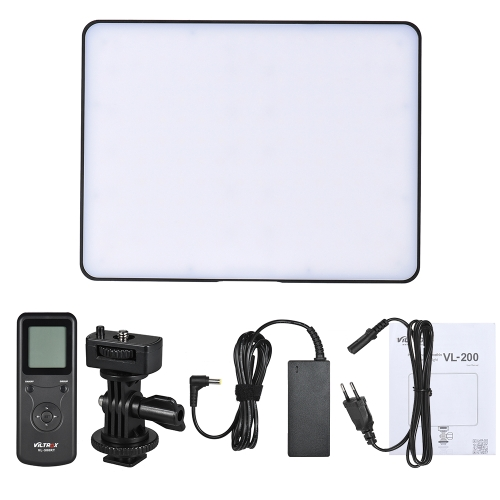 Viltrox VL-200 Wireless Control Bi-color Dimmable LED Video Light Panel 3300K-5600K 192 Beads CRI95 LCD Screen for Canon Nikon Sony DSLR Camera