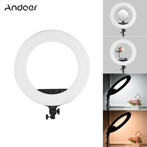 Andoer 18inch LED Video Ring Licht Fill-in Lampe