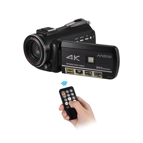 Enregistreur vidéo numérique Andoer AC3 4K UHD 24MP Caméscope