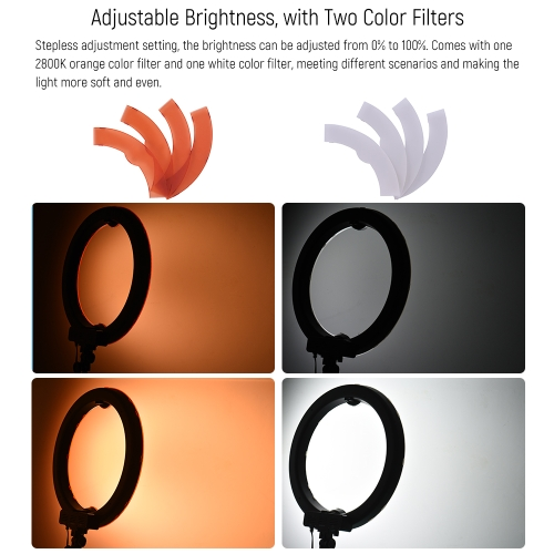 Andoer 18 Inch 5500K LED Video Light Dimmable Photography Ring Fill Light фото