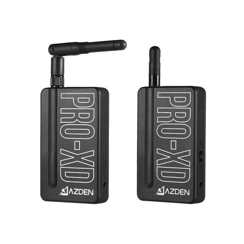 AZDEN i-Coustics PRO-XD 2,4 GHz Digital Wireless Mikrofon System umfassen Sender Empfänger Revers Mikrofon Auto Sync 35m + Betriebsbereich kompatibel USB-Lade für Smartphone DSLR Kamera Camcorder